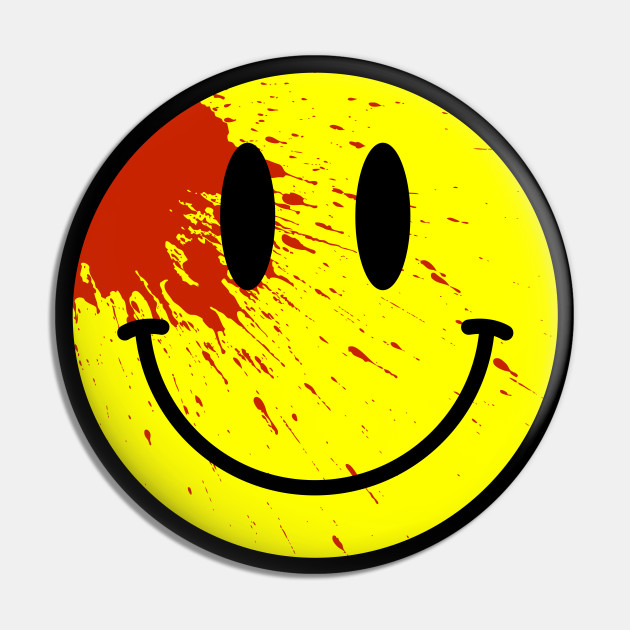 Acid House Smiley Face Bloodied Smile Pin Teepublic