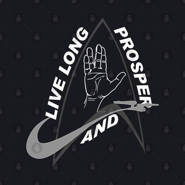 StarTrek Command Badge Live Long And Prosper 2W