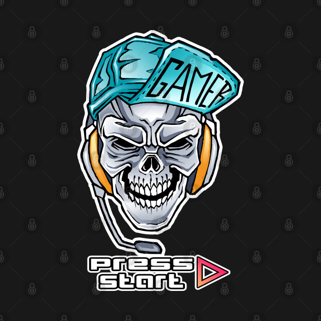 Skull Gamer Press Start Mode