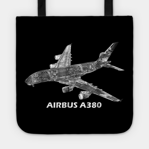 Airbus A380 jet airplane cutaway aviation pilot T-Shirt gift