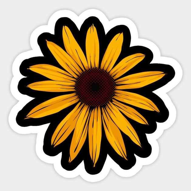 129cf6c2b Sunflower Design - Sunflower - Sticker | TeePublic