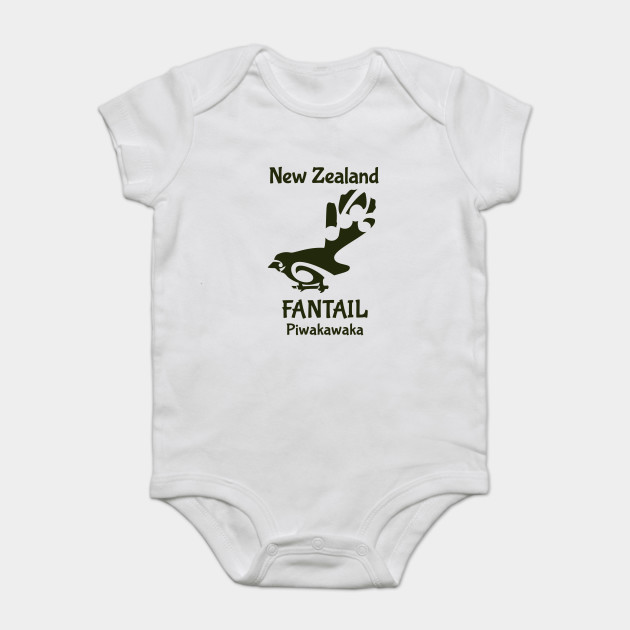 17d1c2aec190 FANTAIL New Zealand  Aotearoa native bird - Bird Logo - Onesie ...