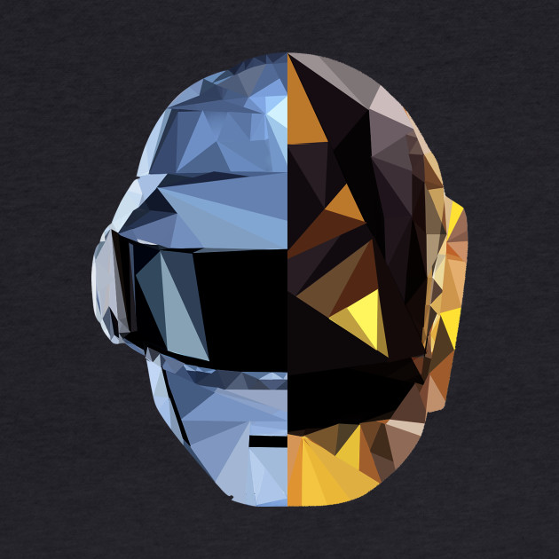 Daft Punk Polygon Heads