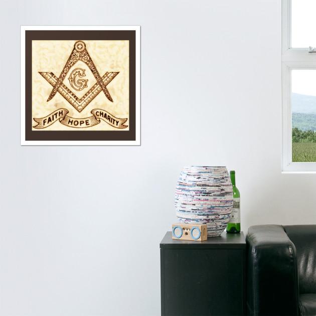 Freemason Symbol - Freemason - Wall Art | TeePublic