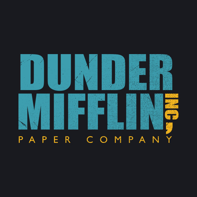 The Office Dunder Mifflin Inc, Paper Company Grunge