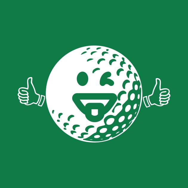 Happy Golf Ball - Funny Golfing Shirt