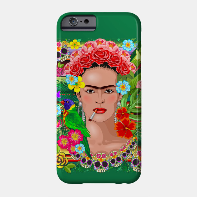 Frida Kahlo Floral Exotic Portrait