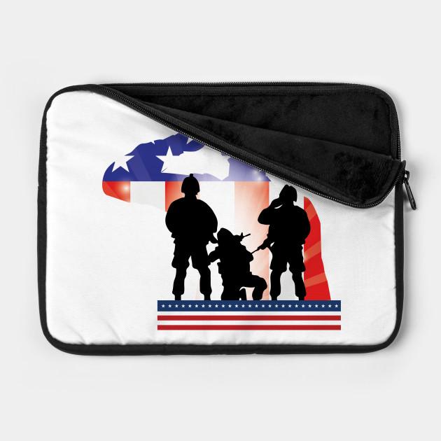 Soldier Patriotic American Flag Memorial Day Gift