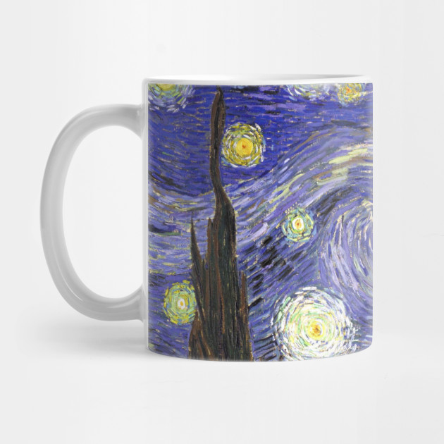 Starry Night By Vincent Van Gogh Starry Night Mug Teepublic