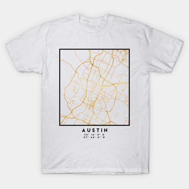 AUSTIN TEXAS CITY STREET MAP ART