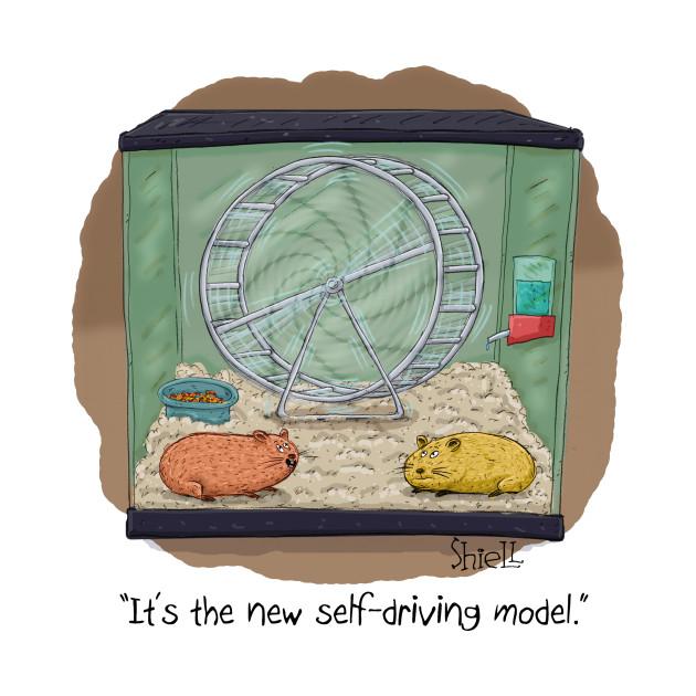Self-Driving Hamster Wheel