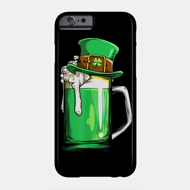 Green Beer Leprechaun St Patricks Day Men Drinking Phone Case