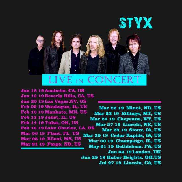Styx Tour 2019 Concert T Shirt Teepublic