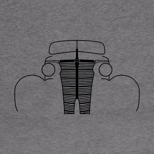 1938 Chevy Master classic car outline graphic (black)