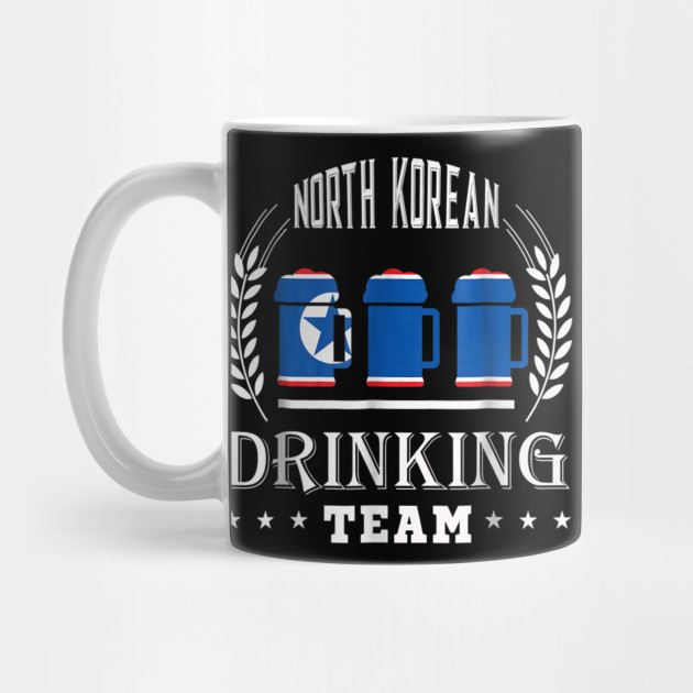 Beer North Korean Drinking Team Casual North Korea Flag T-Sh by nstore
