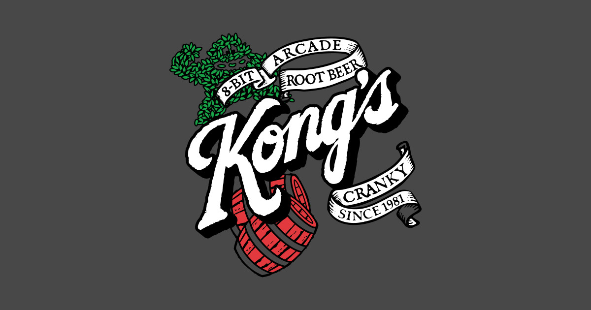 Kongs root beer donkey kong sticker teepublic