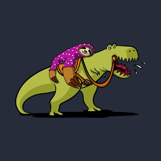 lazy sleeping sloth riding t rex dinosaur funny sloth sleep t