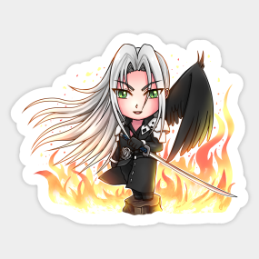 Sephiroth Final Fantasy Vii Stickers Teepublic