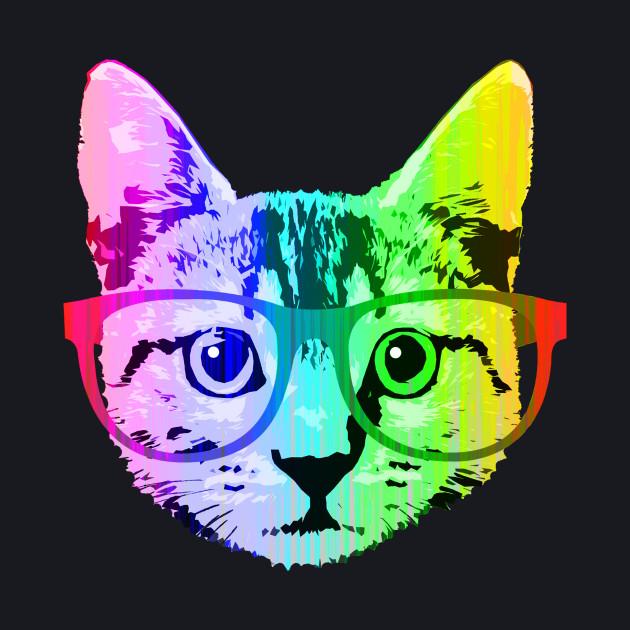 Funny Rainbow Cat