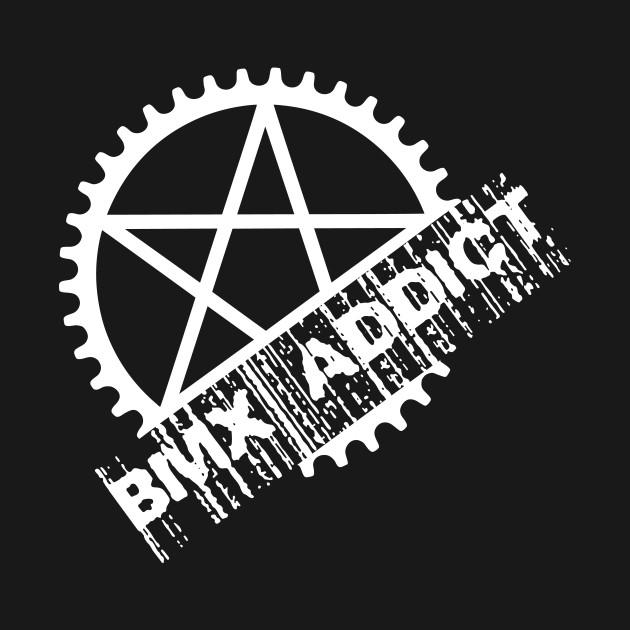 Bmx Addict Graphic With Pentagram Bmx Addict T Shirt Teepublic
