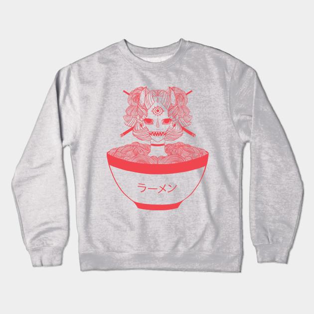 be01359e9 Monster Girl Ramen Noodle Food Art - Ramen Noodle - Crewneck ...