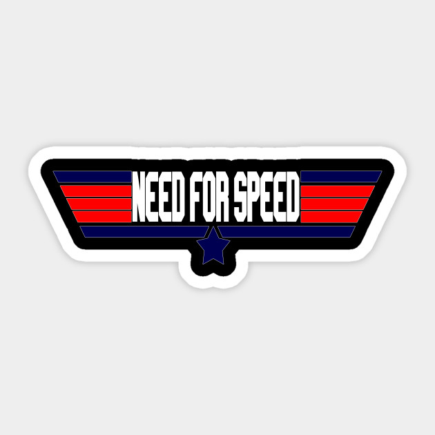 """Need for Speed"" 80's action movie design"