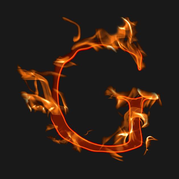 875fbc301bec Fire letter - Letter G - T-Shirt