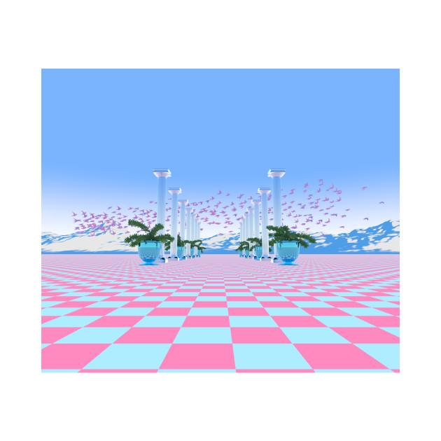 Vaporwave Landscape