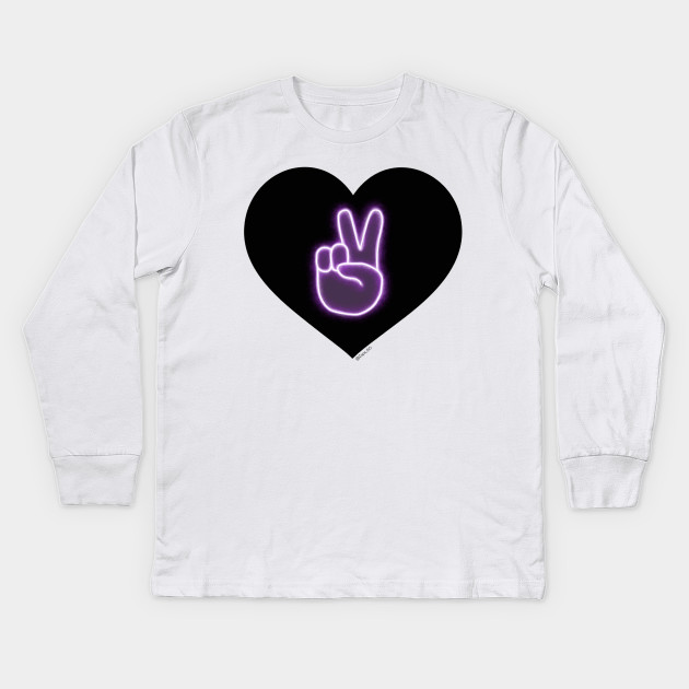 7fc17ea56 Dolan Twins Glow Neon Peace Emoji Merch Design Heart Kids Long Sleeve T- Shirt