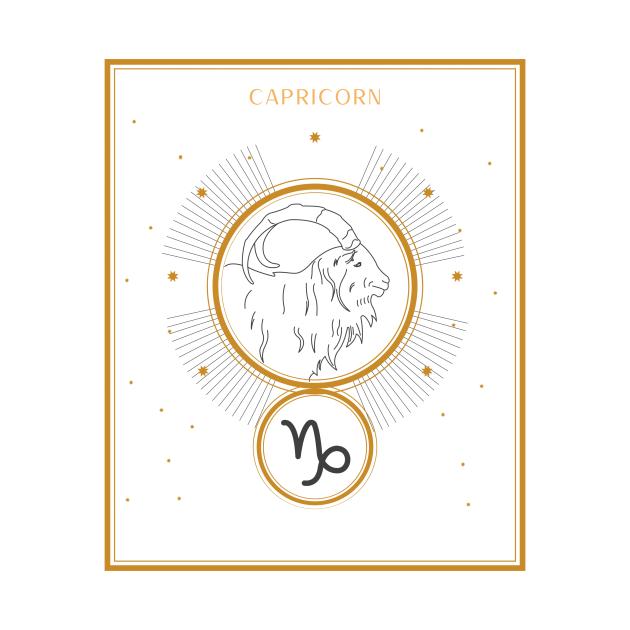 Capricorn   Astrology Zodiac Sign Design