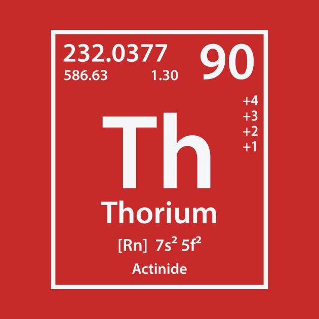 Thorium Element Thorium T Shirt Teepublic