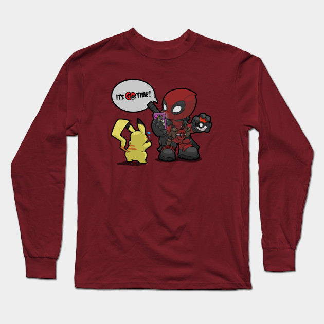 96a2ac90a18 Deadpool Pokemon GO time! - Deadpool - Long Sleeve T-Shirt