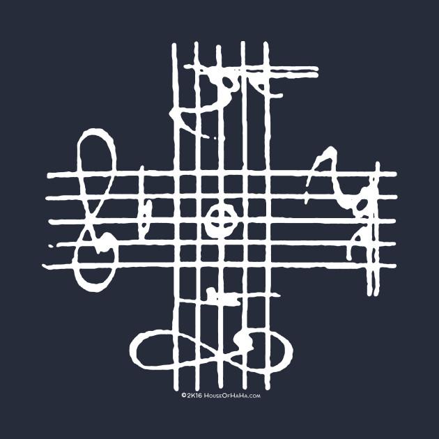 Johann Sebastian Bach Musical Signature Notation Cross