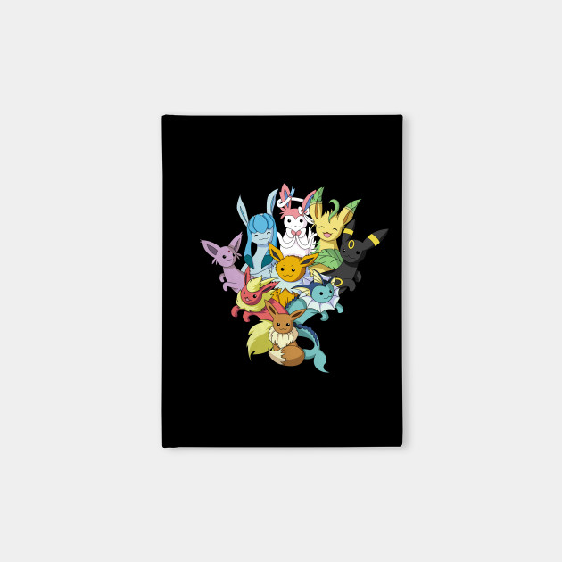 f7d3a6ae Eeveelution pile - Cute - Notebook | TeePublic