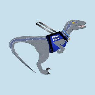 Blue The Service Raptor t-shirts