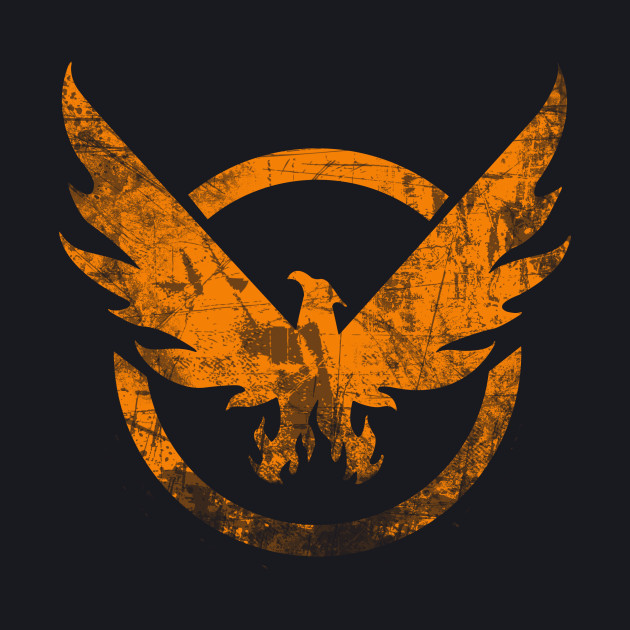 The Division - Orange Grunge Logo