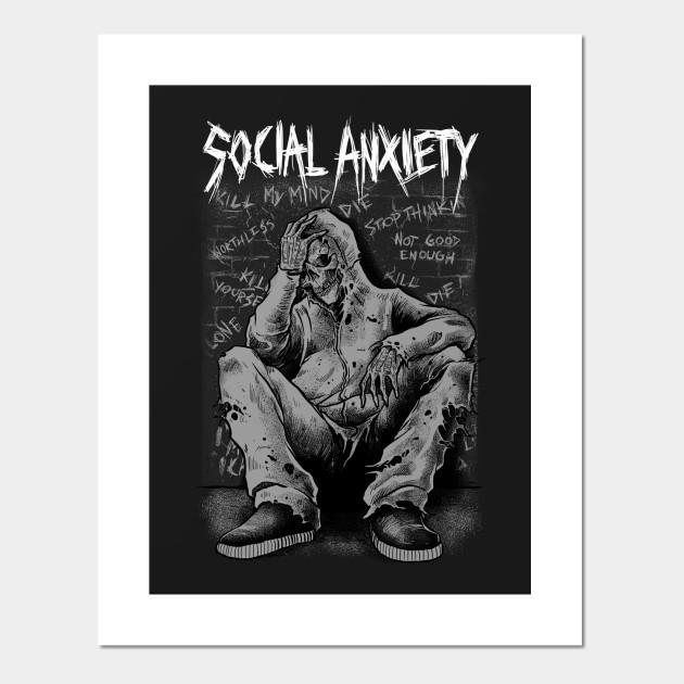 Social Anxiety Art 2 Band Posters And Art Prints Teepublic