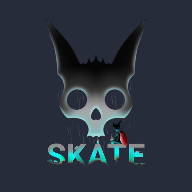 Skate Graffiti Super hero cat