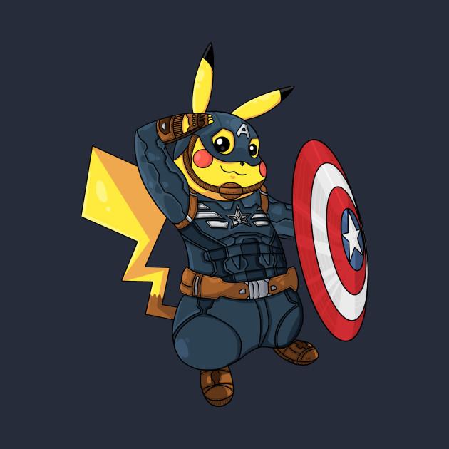 ce8eaa90 Captain Americhu - Pikachu - T-Shirt | TeePublic