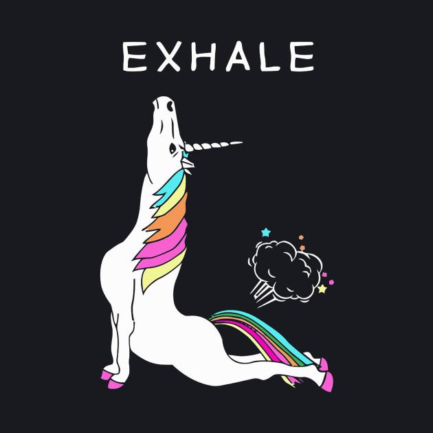 Exhale Yoga Unicorn With Rainbow