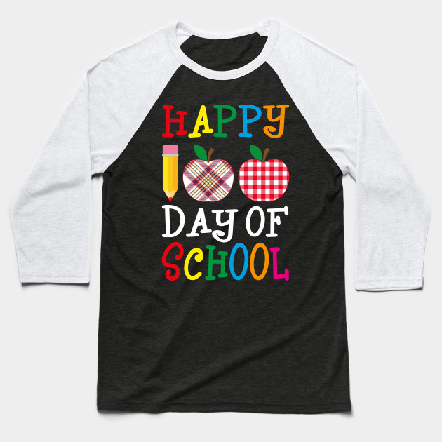 Happy 100th Day of School Teacher Baseball T-Shirt