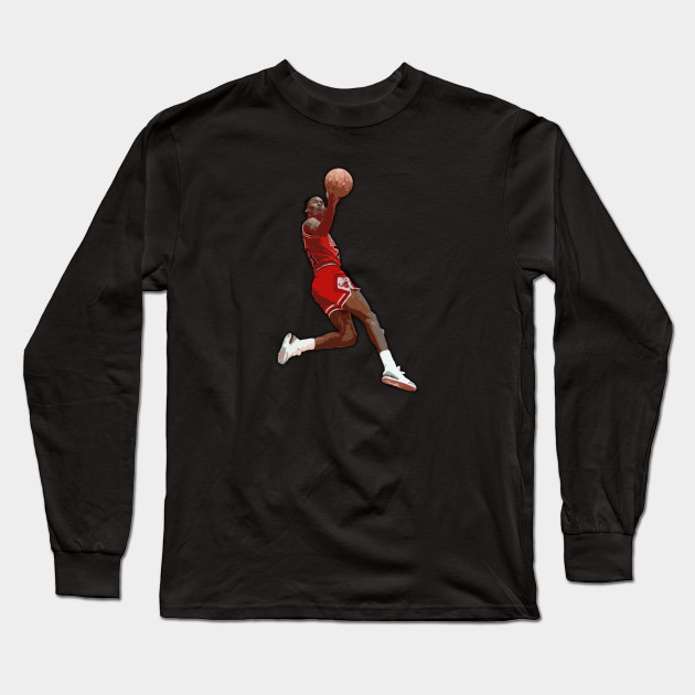 a2878aff7b1 MJ Iconic Jump - Michael Jordan - Long Sleeve T-Shirt | TeePublic