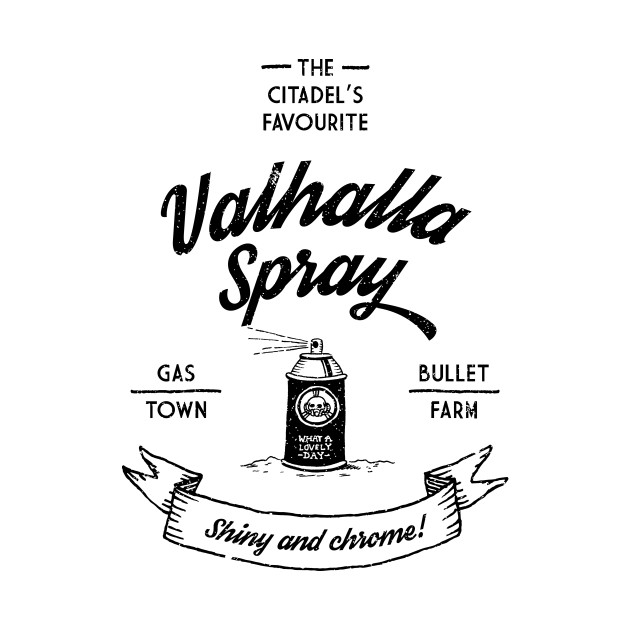 Valhalla Spray - black artwork