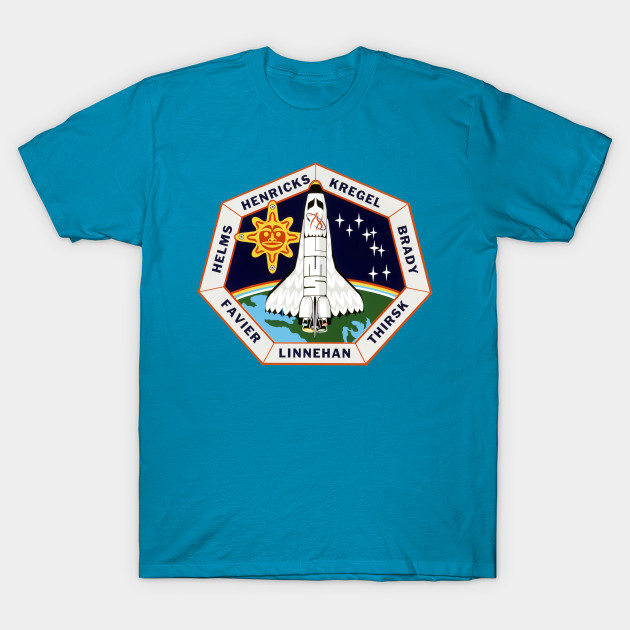 Sts-78 Mission Patch Childrens Long Sleeve T-Shirt Boys Cotton Tee Tops