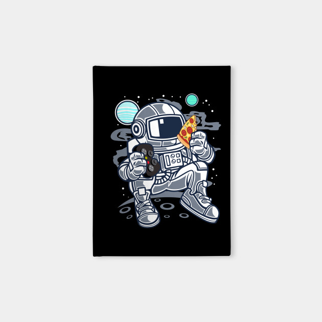 Astronaut Gamer with Pizza in Space | Funny T-Shirt Gift