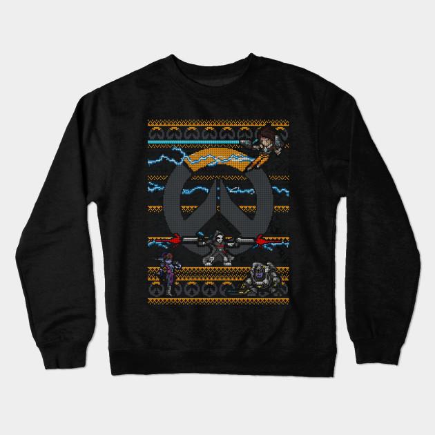 Overwatch Ugly Sweater Overwatch Crewneck Sweatshirt Teepublic