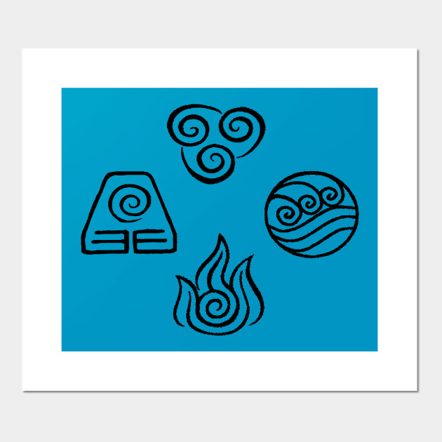 Avatar Elements Avatar The Last Airbender Posters And Art Prints
