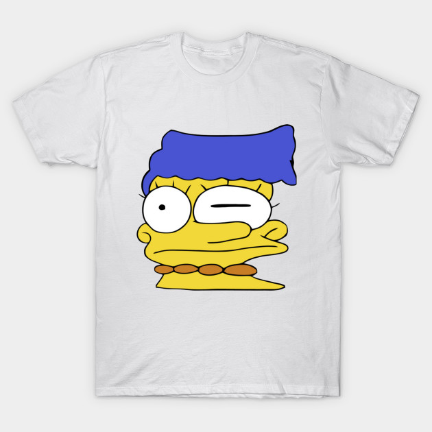 Smeared Marge Simpson Simpsons T Shirt Teepublic