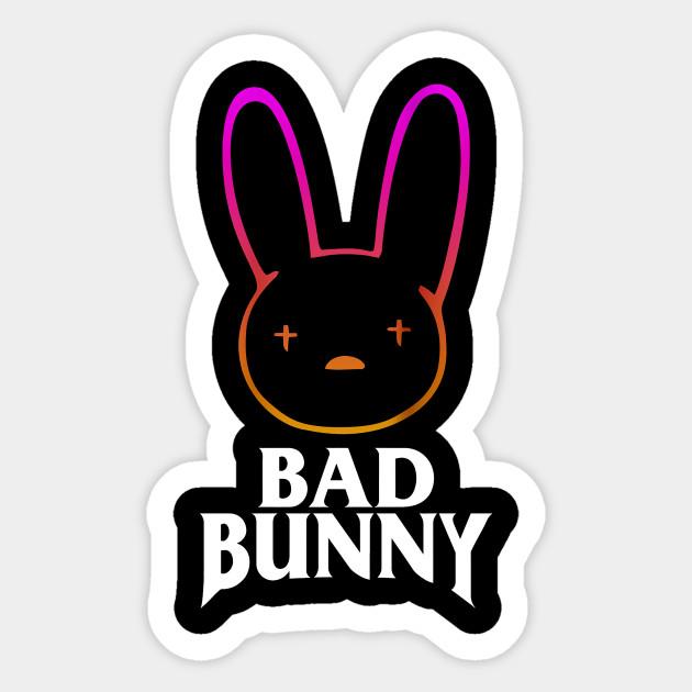 Bad Bunny - Bad Bunny - Pegatina | TeePublic MX