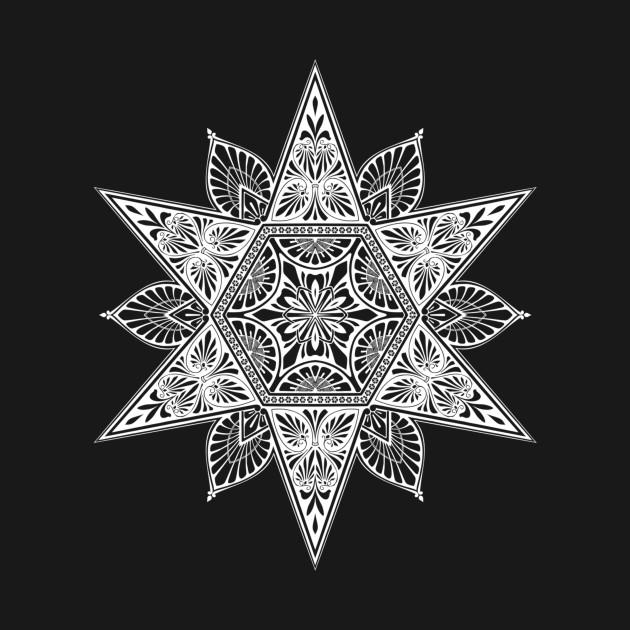 Geometric shapes, mandala pattern decor